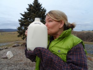 Cows are giving us milk again!! Yet another sign of spring! LOVE my milk from nearby Creambrook Farm!! (http://www.creambrookfarm.com/)