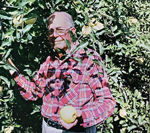 AP Thompson in his Orchard